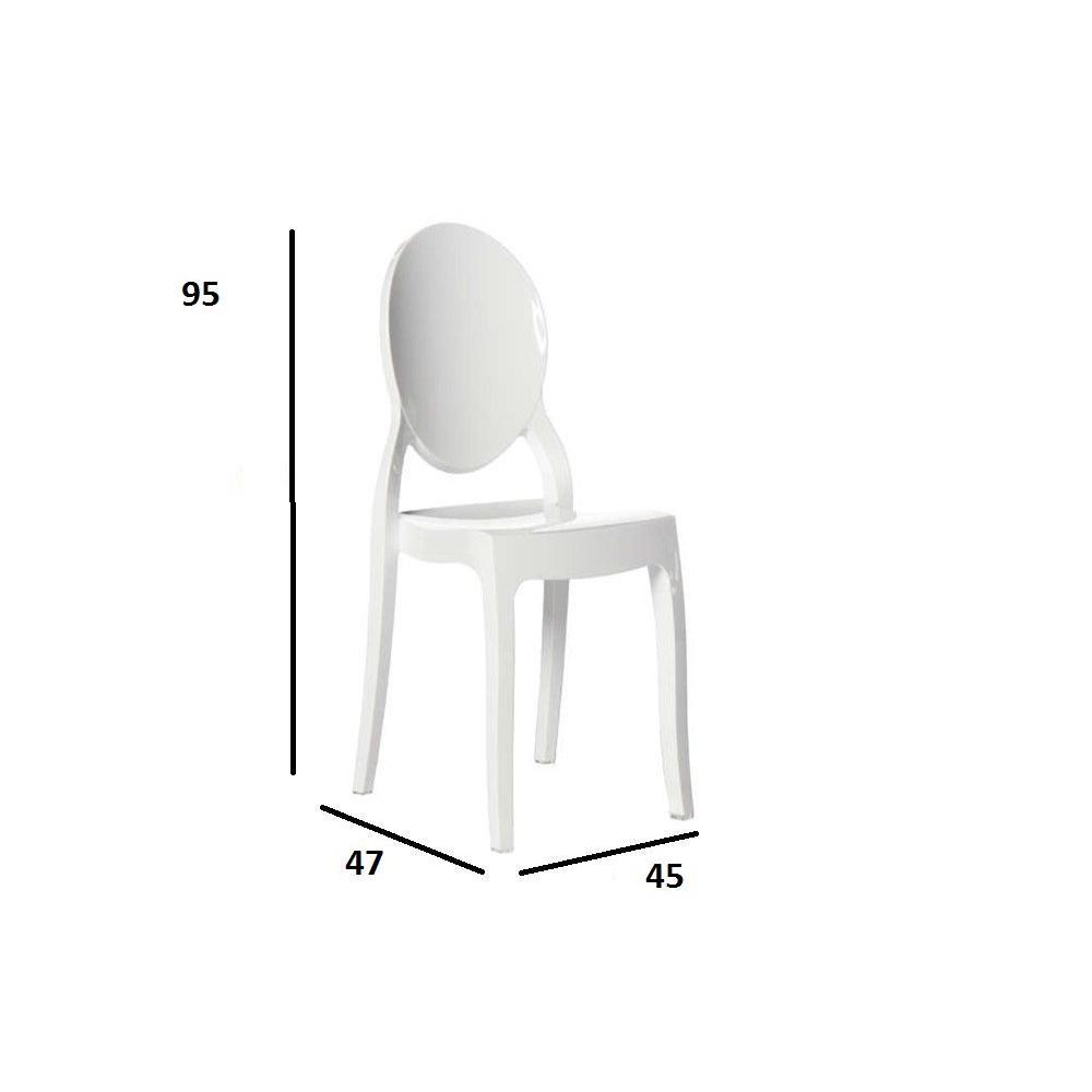 Chaises tables et chaises chaise design imp ratrice en polycarbonate blanc - Chaise en polycarbonate ...