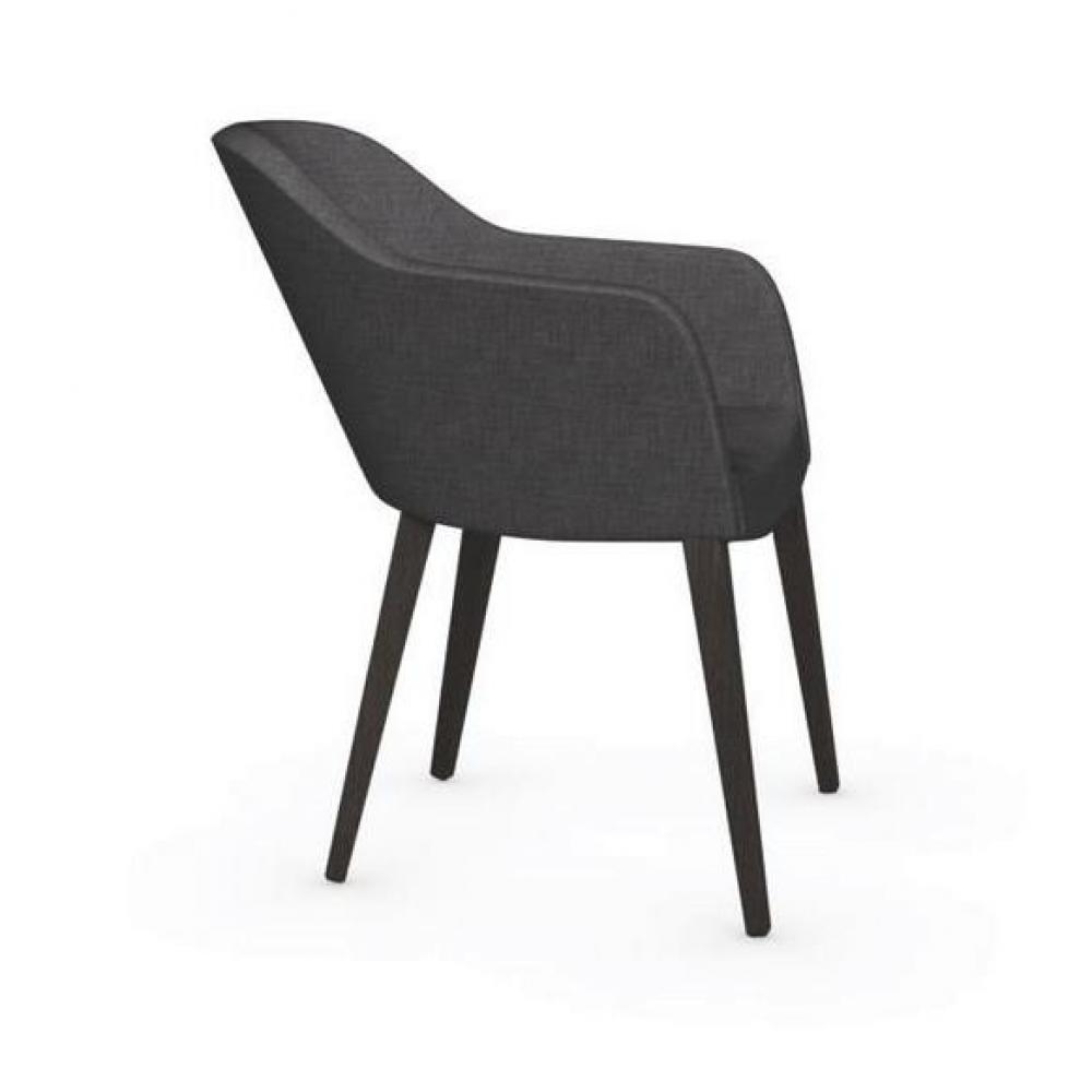 chaises chaise design gossip avec accoudoirs de calligaris pi tement weng assise tissu gris. Black Bedroom Furniture Sets. Home Design Ideas