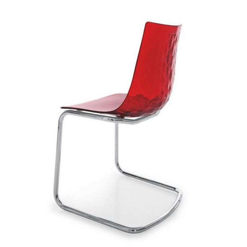 Chaise cuisine rouge conceptions de maison for Chaise design rouge