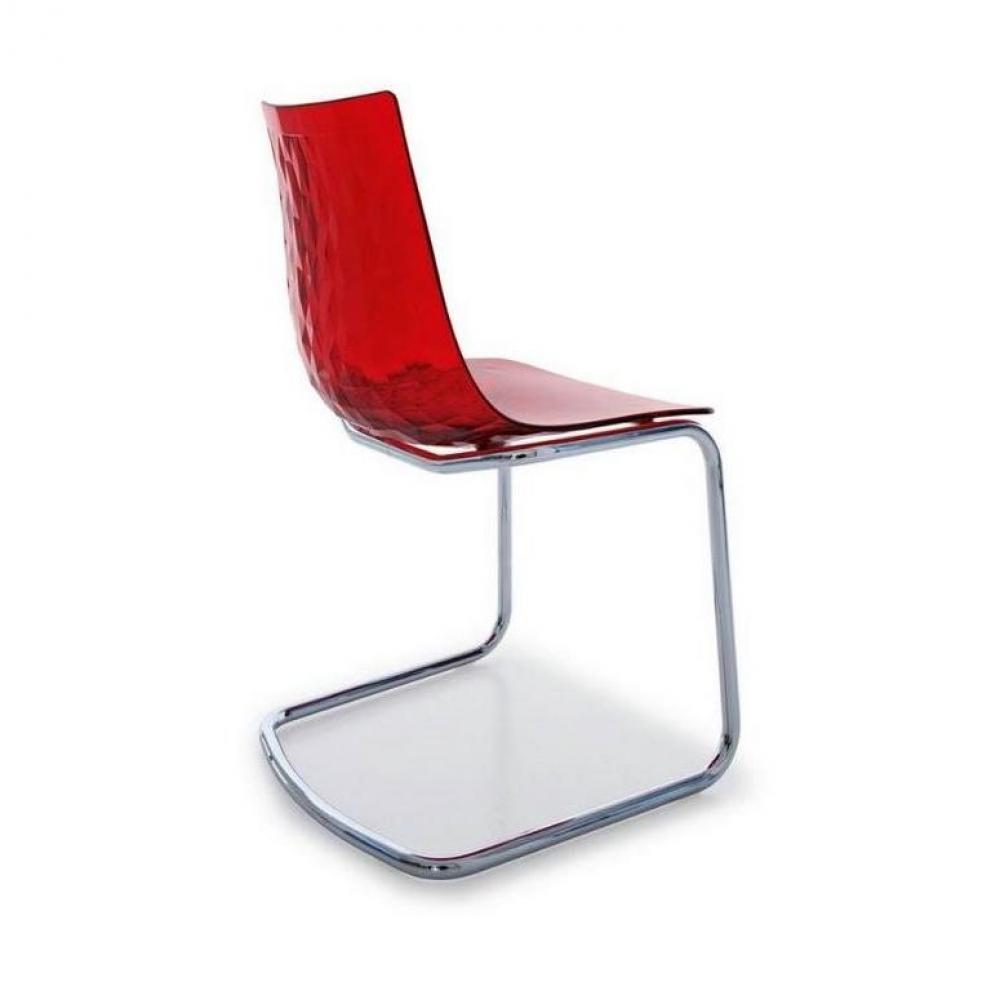 Chaises tables et chaises chaise design ice de for Chaise design rouge