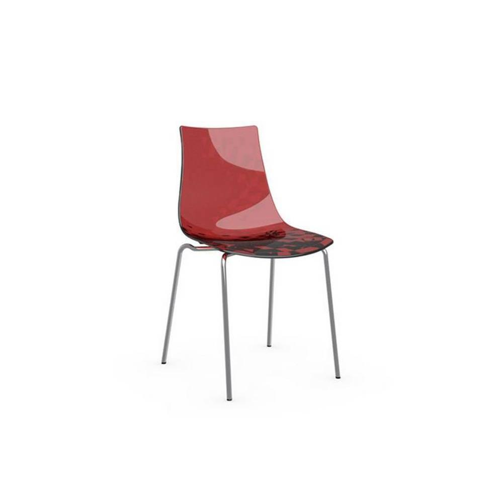 chaises tables et chaises calligaris chaise design ice rouge inside75. Black Bedroom Furniture Sets. Home Design Ideas