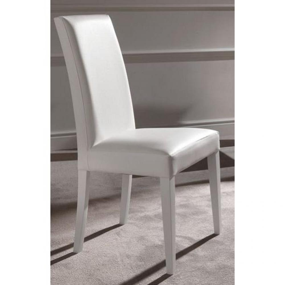 Lot de 2 chaises design italienne vertigo lux en simili for Chaise cuir blanc
