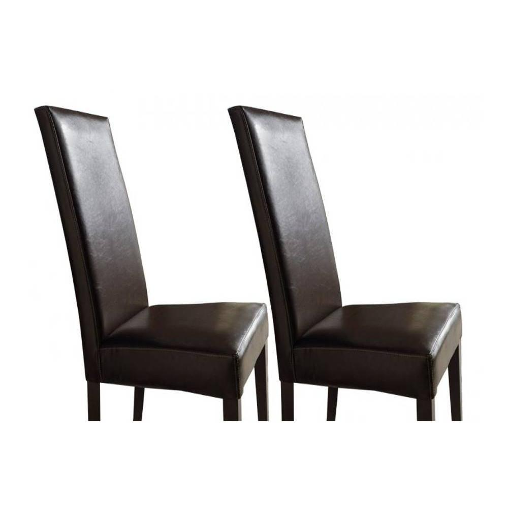 Chaises tables et chaises lot de 2 chaises design for Chaise simili cuir