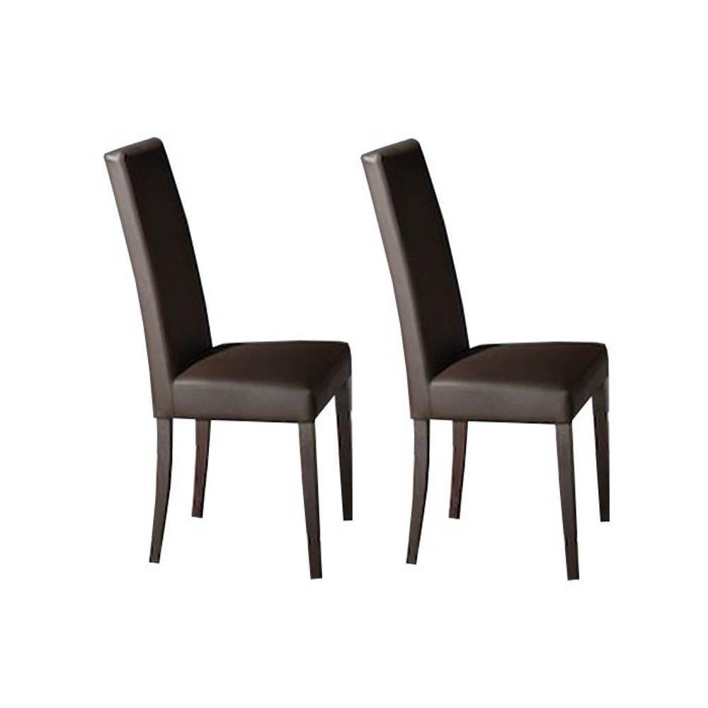 chaises tables et chaises lot de 2 chaises design italienne vertigo lux en tissu enduit. Black Bedroom Furniture Sets. Home Design Ideas