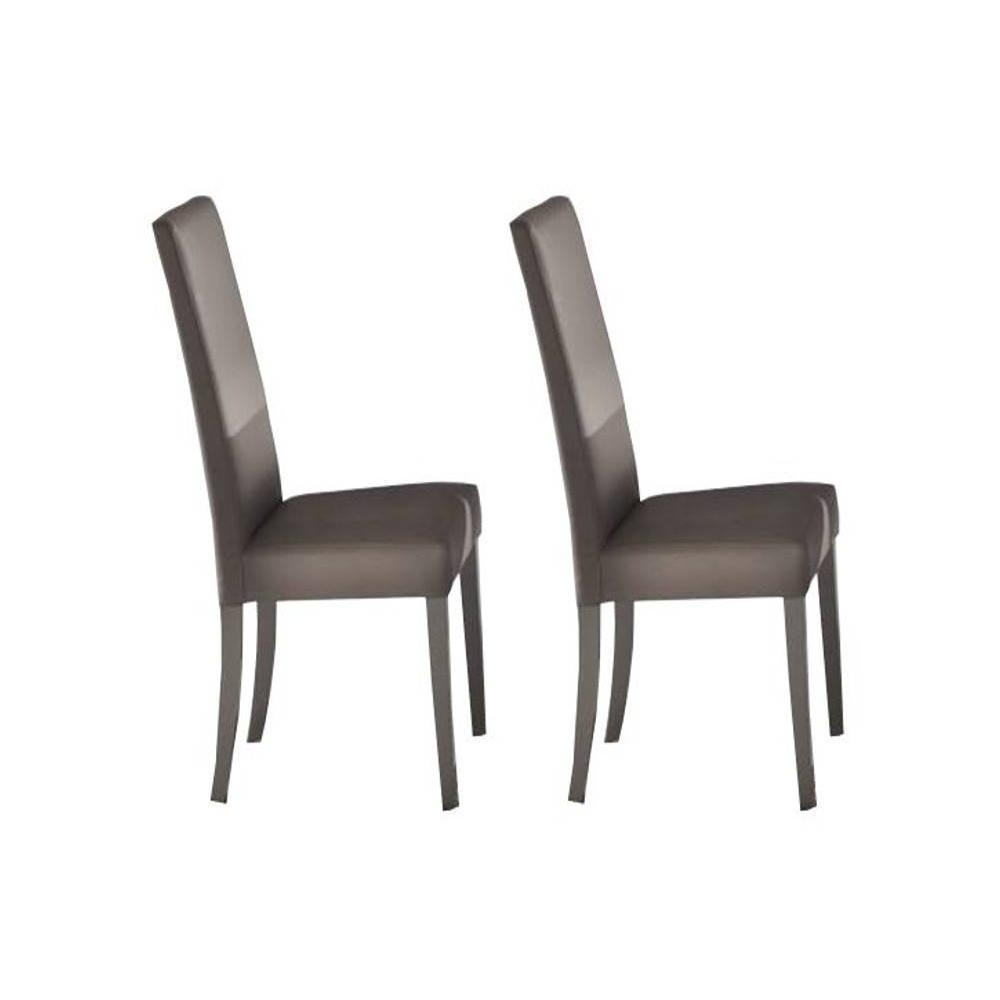 Chaises tables et chaises lot de 2 chaises design - Chaises en cuir design ...