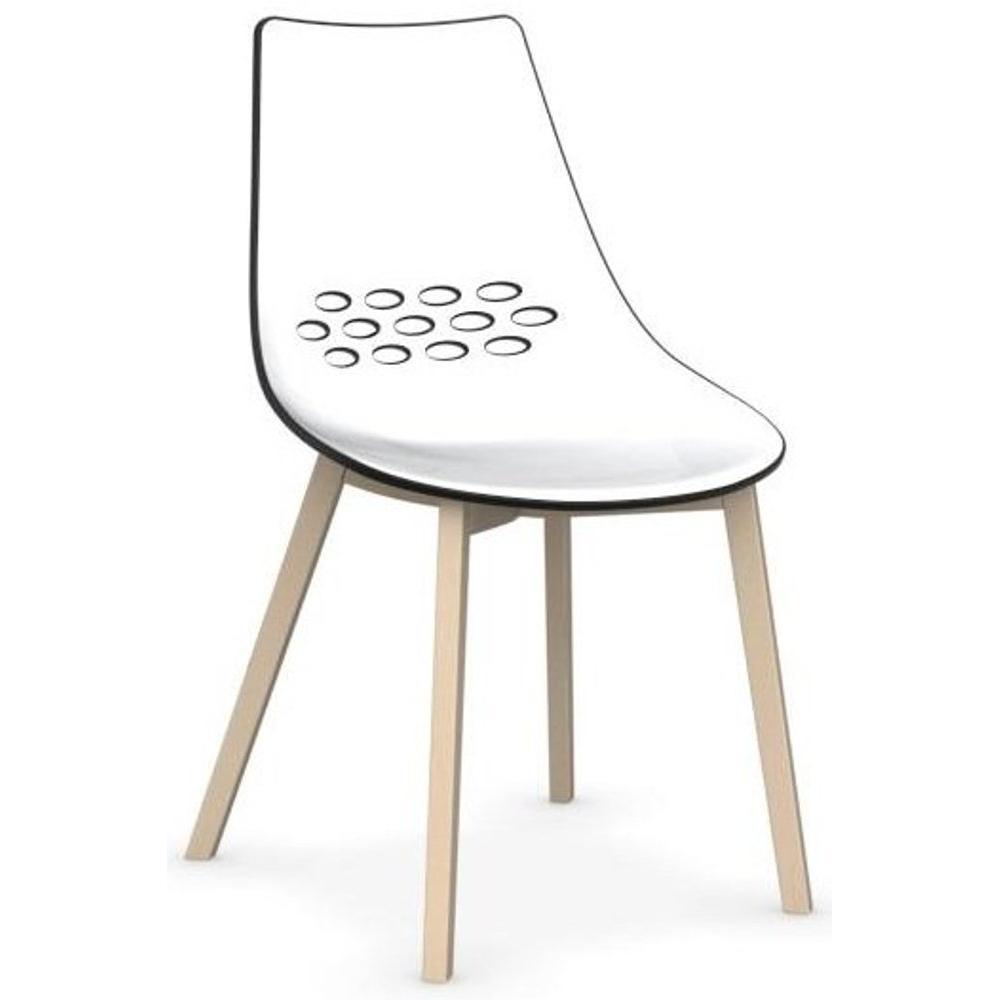 chaises tables et chaises calligaris chaise jam w pi tement en h tre blanchi inside75. Black Bedroom Furniture Sets. Home Design Ideas