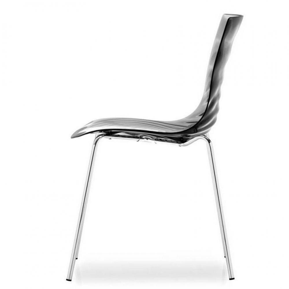 Chaises tables et chaises calligaris calligaris chaise for Chaise grise transparente