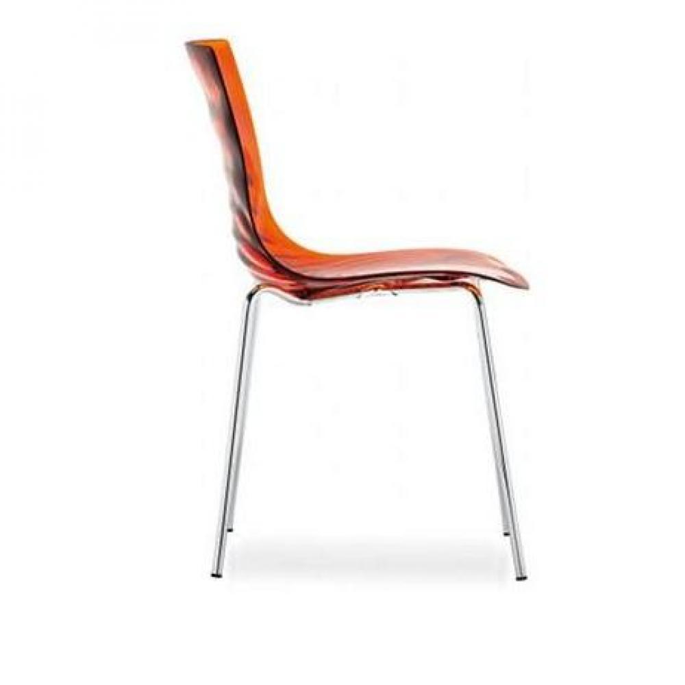 chaises tables et chaises calligaris calligaris chaise design l 39 eau orange transparente inside75. Black Bedroom Furniture Sets. Home Design Ideas