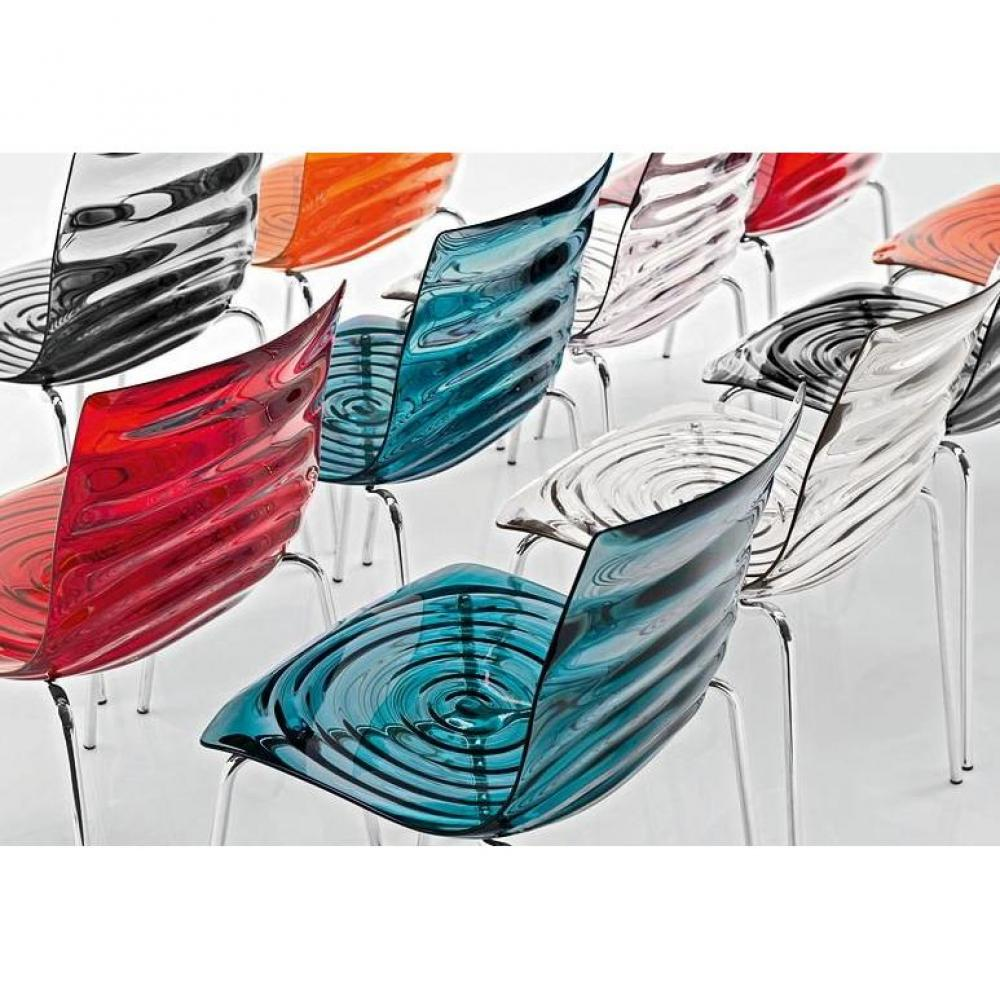 chaises tables et chaises calligaris calligaris chaise design l 39 eau orange transparente inside75. Black Bedroom Furniture Sets. Home Design Ideas