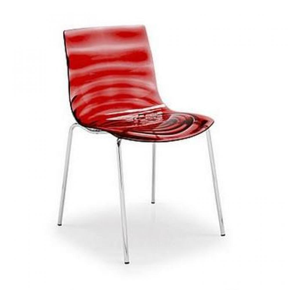Chaises tables et chaises calligaris calligaris chaise design l 39 eau rouge transparente inside75 - Chaise rouge transparente ...
