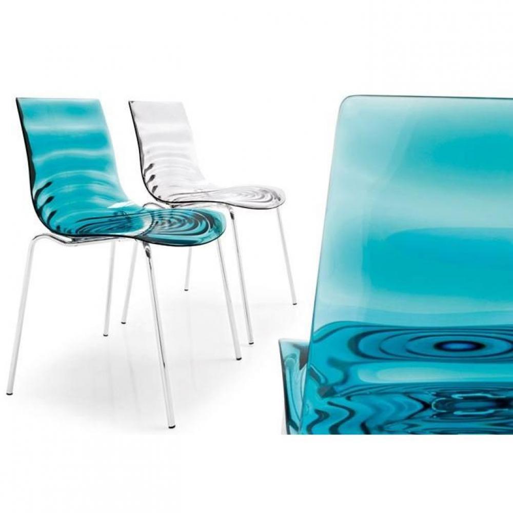 chaises tables et chaises calligaris calligaris chaise design l 39 eau en plexiglas inside75. Black Bedroom Furniture Sets. Home Design Ideas