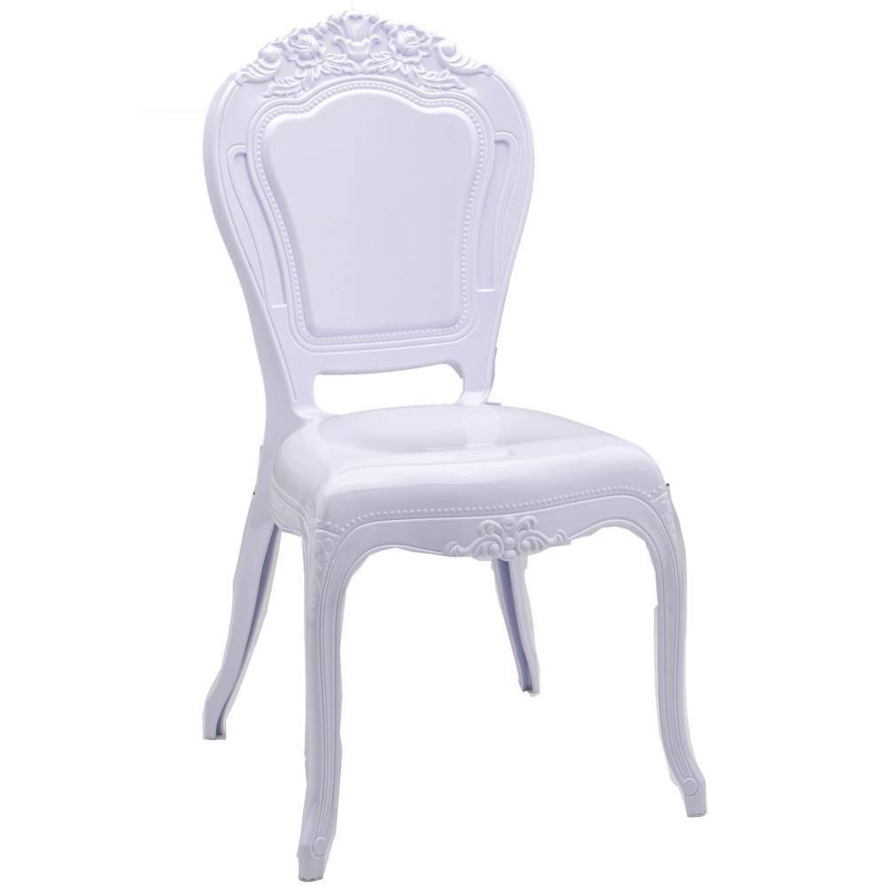 Chaises tables et chaises chaise design napoleon en polycarbonate opaque bl - Chaise en polycarbonate ...