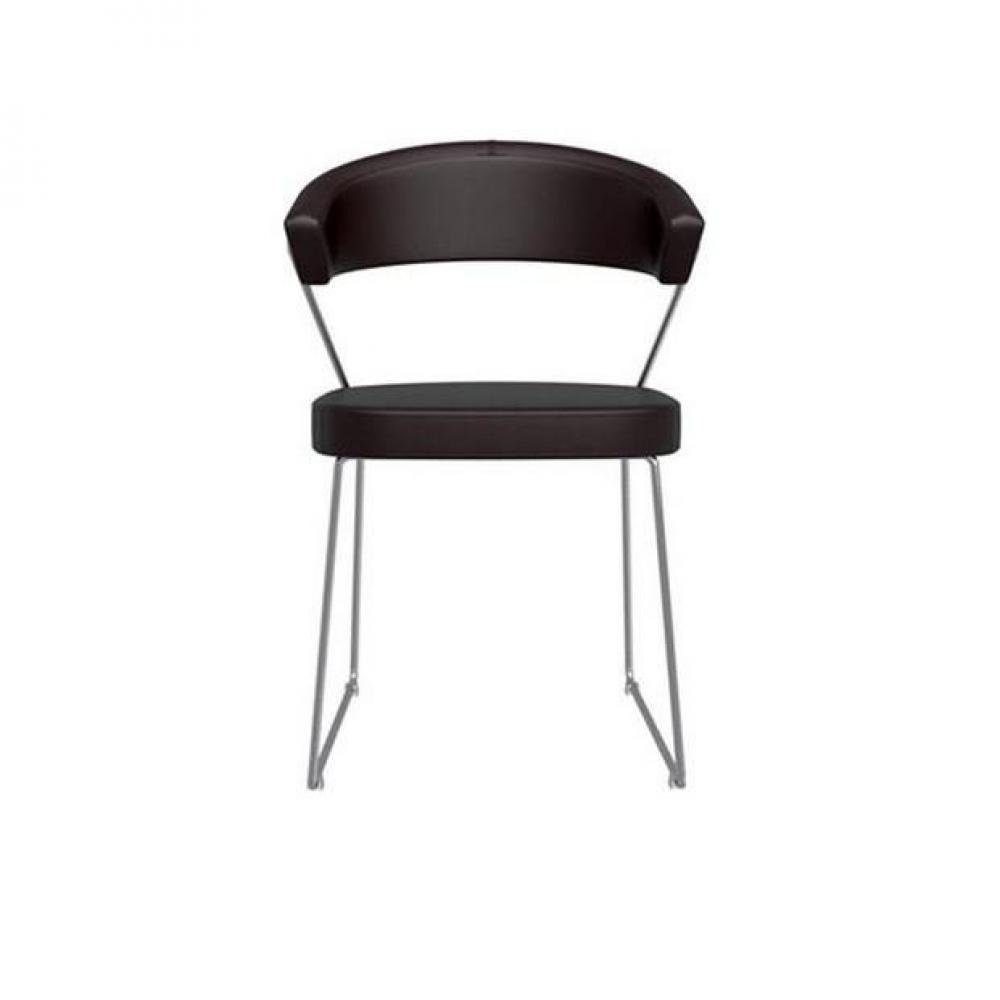 Chaise new york design italienne de calligaris en simili - Chaise bureau new york ...