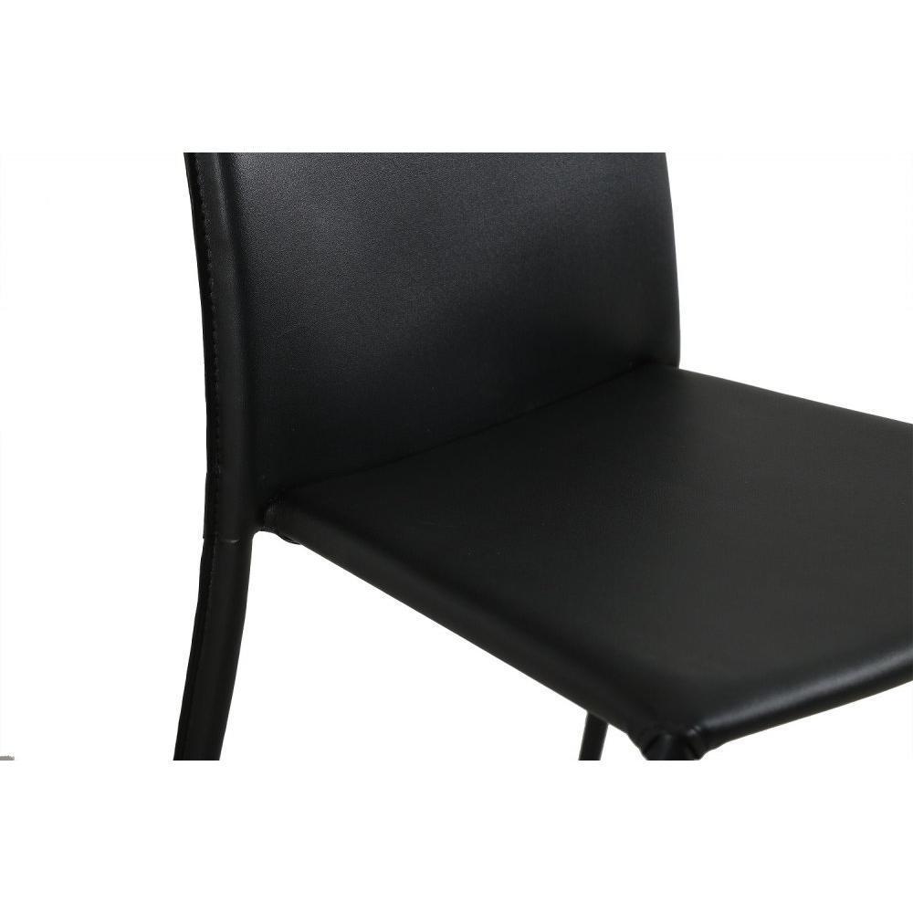Chaises tables et chaises chaise design polo en tissu enduit polyur thane s - Chaise cuir noir design ...