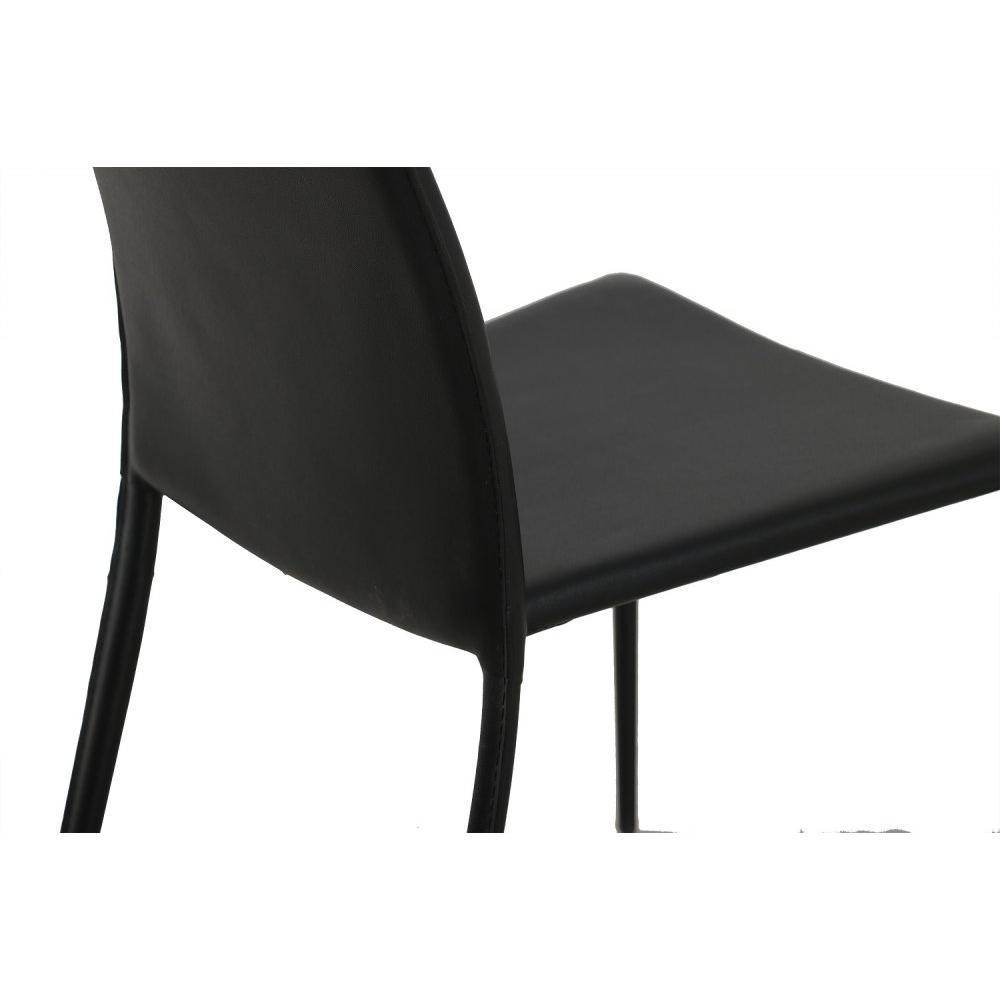 Chaises tables et chaises chaise design polo en tissu enduit polyur thane s - Chaise design cuir noir ...
