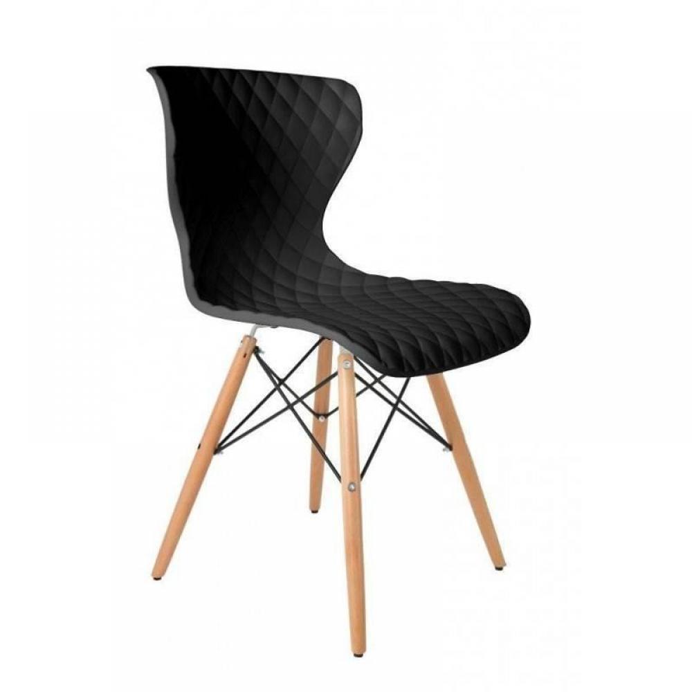Chaises tables et chaises chaise crow beech noire design - Chaise design scandinave ...