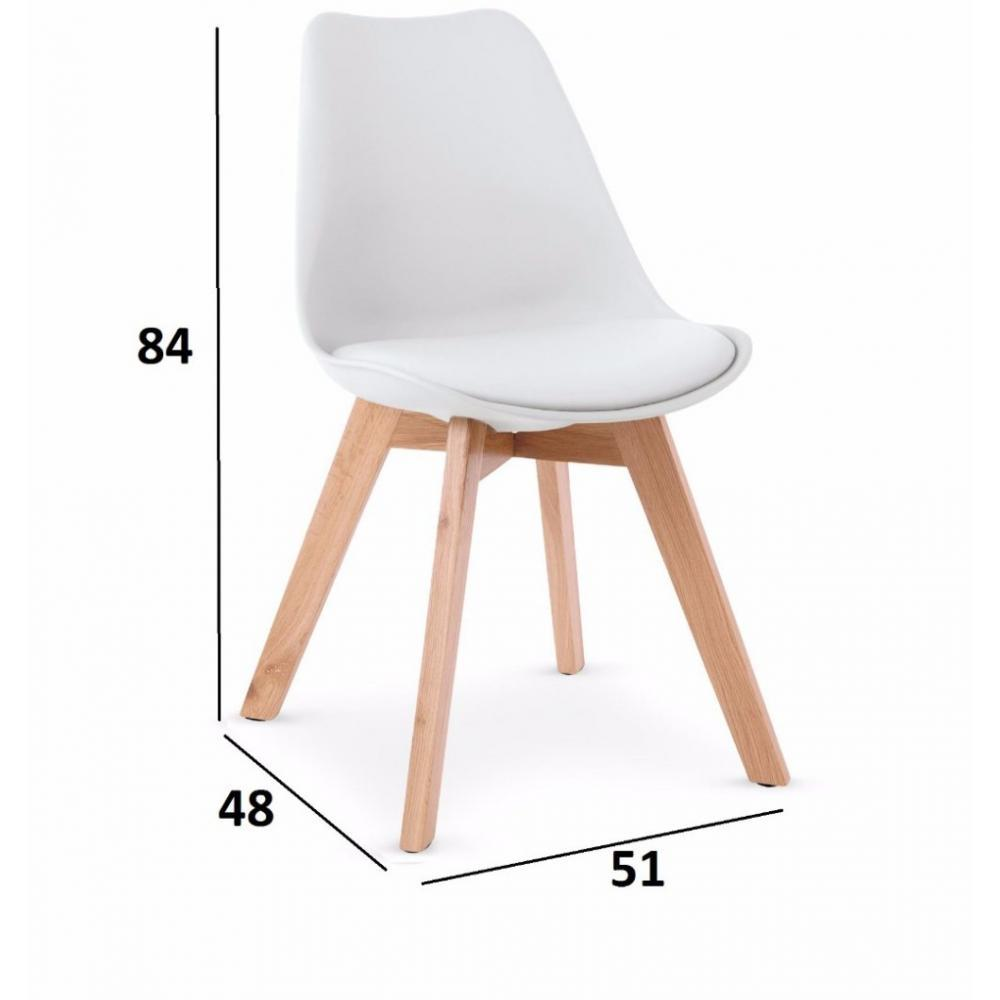 Chaises tables et chaises chaise oslo design scandinave pi tement en h tre inside75 Chaise scandinave design