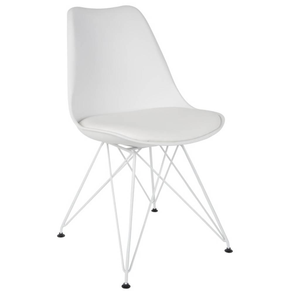 Chaises tables et chaises chaise ozzy blanche design for Chaise scandinave blanche