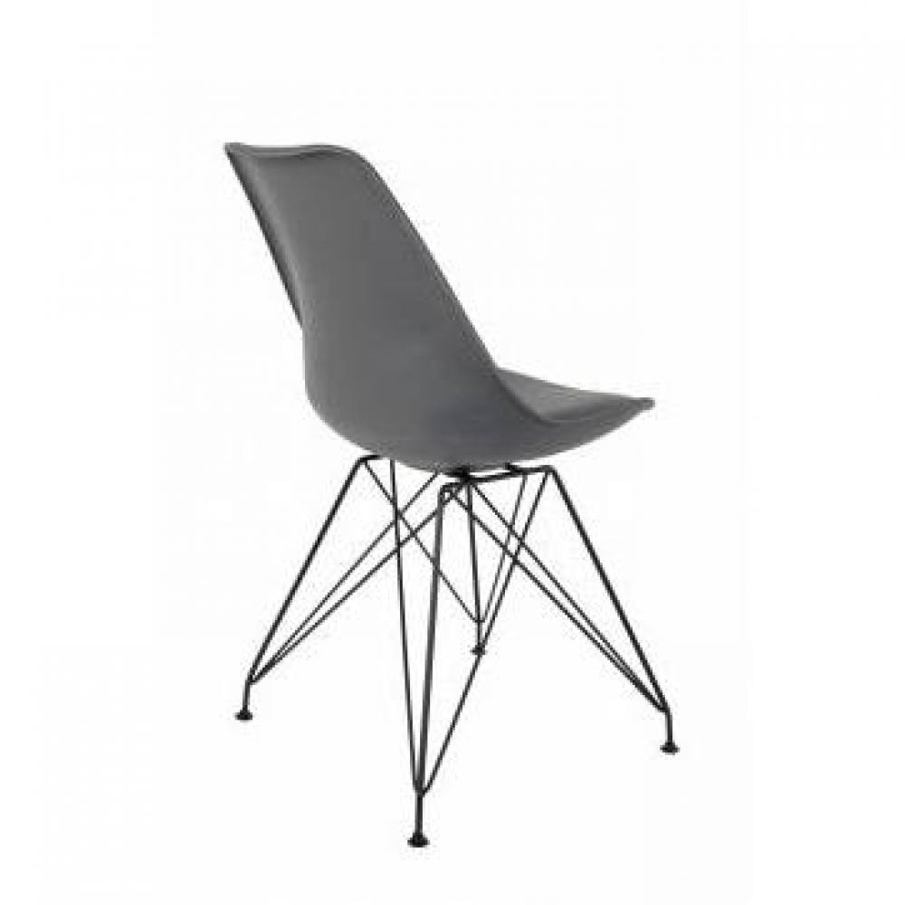 chaises tables et chaises chaise ozzy grise design scandinave pi tement en m tal inside75. Black Bedroom Furniture Sets. Home Design Ideas