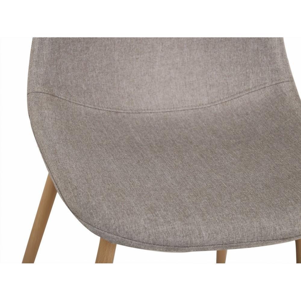 chaises tables et chaises chaise stockholm design scandinave tissu gris clair inside75. Black Bedroom Furniture Sets. Home Design Ideas