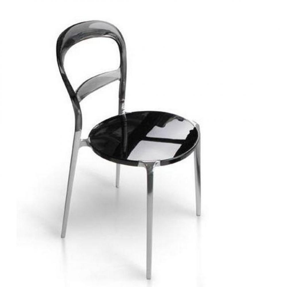chaises tables et chaises calligaris chaise design wien grise transparente et aluminium inside75. Black Bedroom Furniture Sets. Home Design Ideas