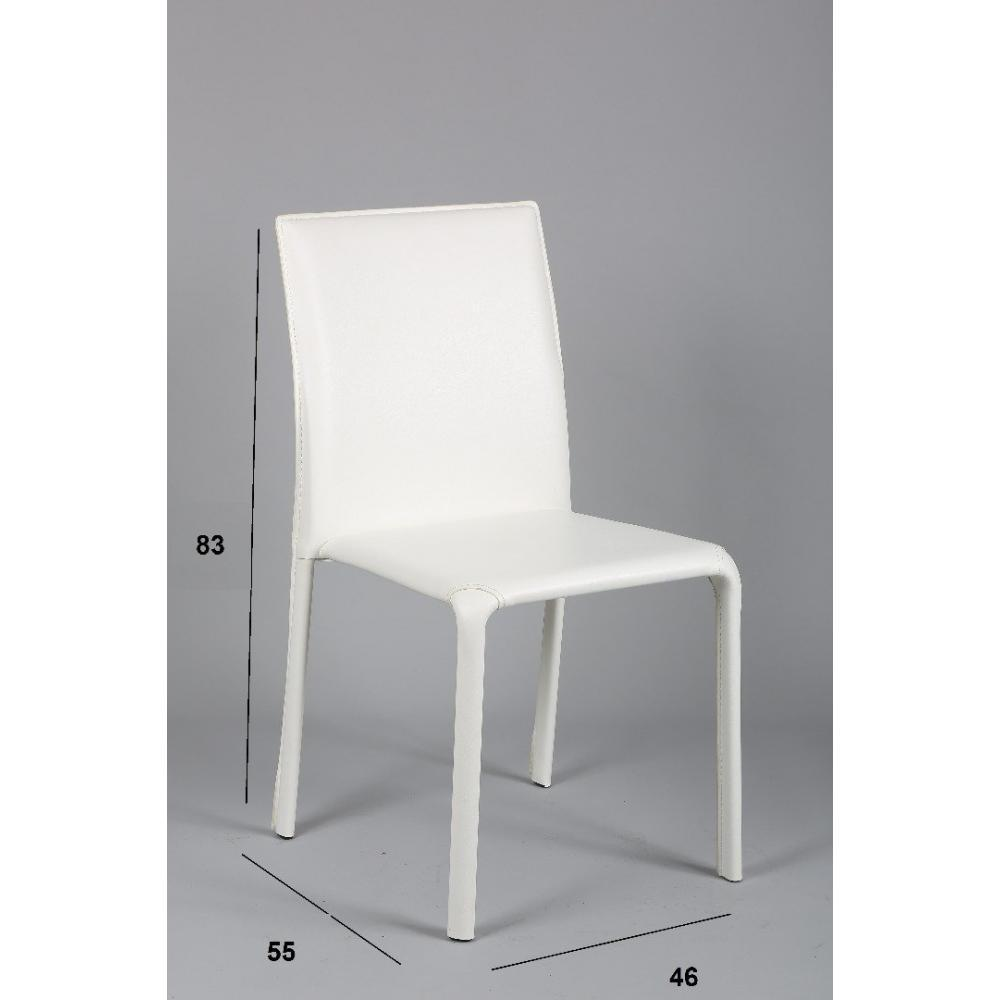 Chaises tables et chaises chaise diva en pvc blanc for Chaise longue blanc pvc