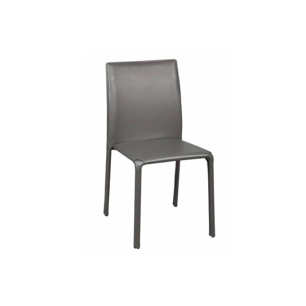 chaises tables et chaises chaise diva en pvc gris inside75. Black Bedroom Furniture Sets. Home Design Ideas