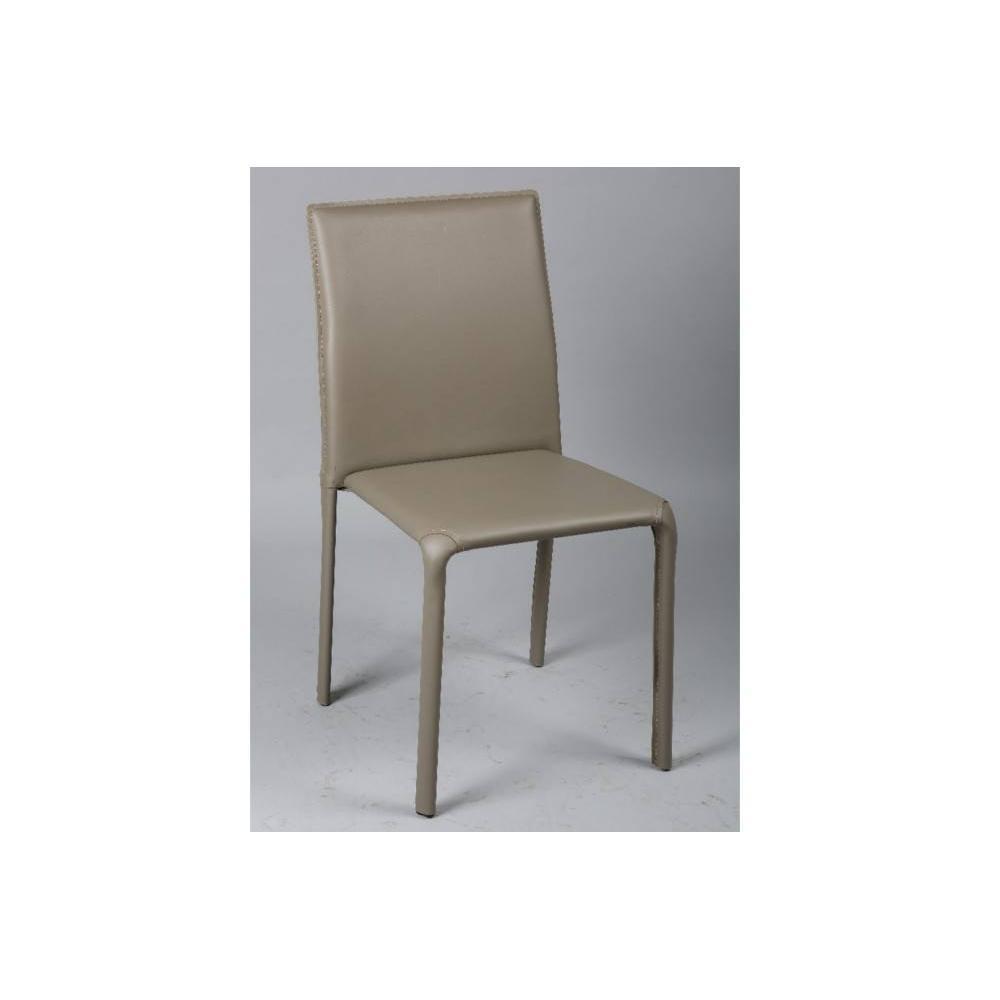 chaises tables et chaises chaise diva en pvc taupe inside75. Black Bedroom Furniture Sets. Home Design Ideas