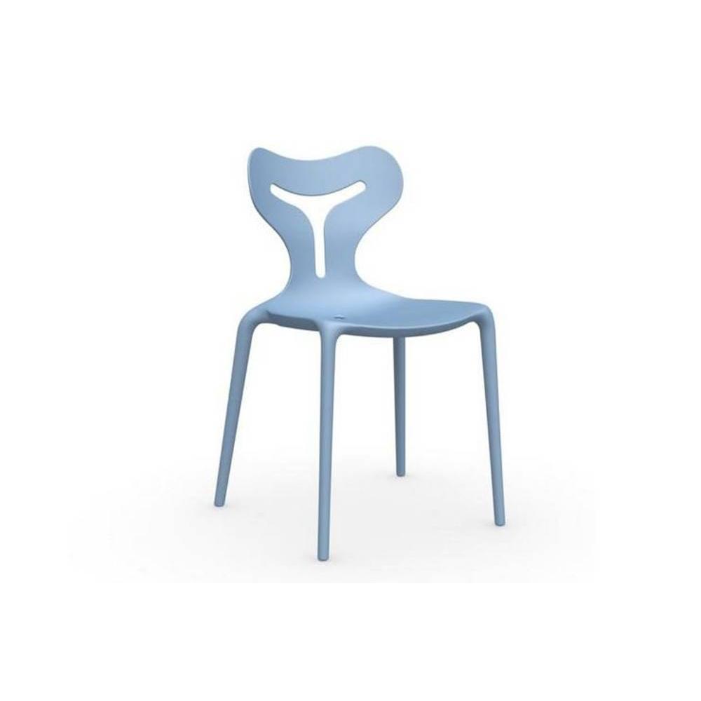 chaises tables et chaises calligaris chaise empilable area 51 bleu ciel inside75. Black Bedroom Furniture Sets. Home Design Ideas