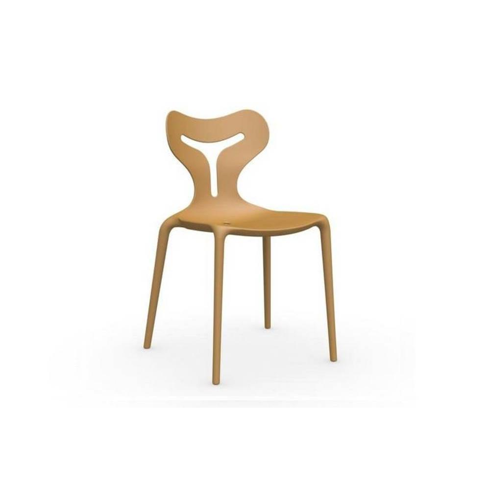 Chaises tables et chaises calligaris chaise empilable for Chaise jaune moutarde