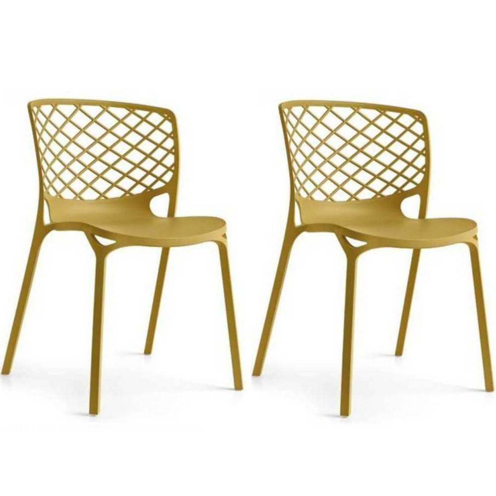 Chaises tables et chaises calligaris chaise empilable gamera jaune moutarde - Chaise de jardin truffaut ...