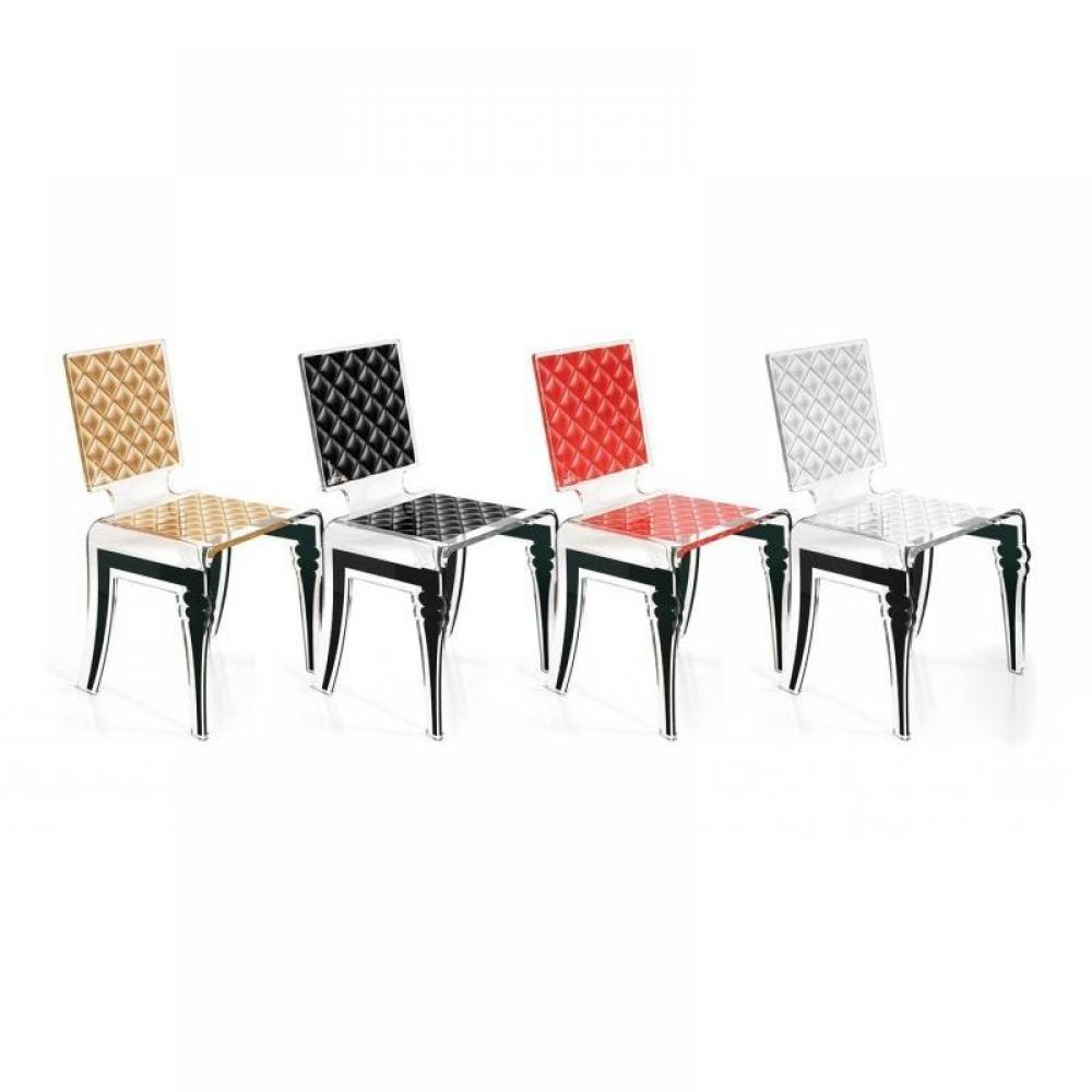 Chaises meubles et rangements factory chaise design en for Chaise en plexi