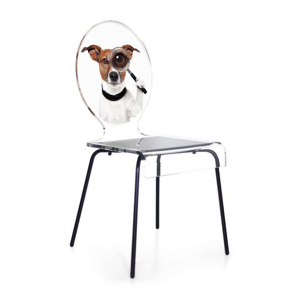 chaises tables et chaises chaise acrila graph pieds m tal finition chien inside75. Black Bedroom Furniture Sets. Home Design Ideas