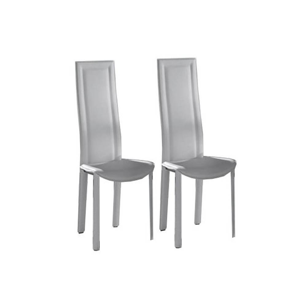 Chaises simili cuir blanc 28 images lot de 4 chaises for Chaise cuir blanc