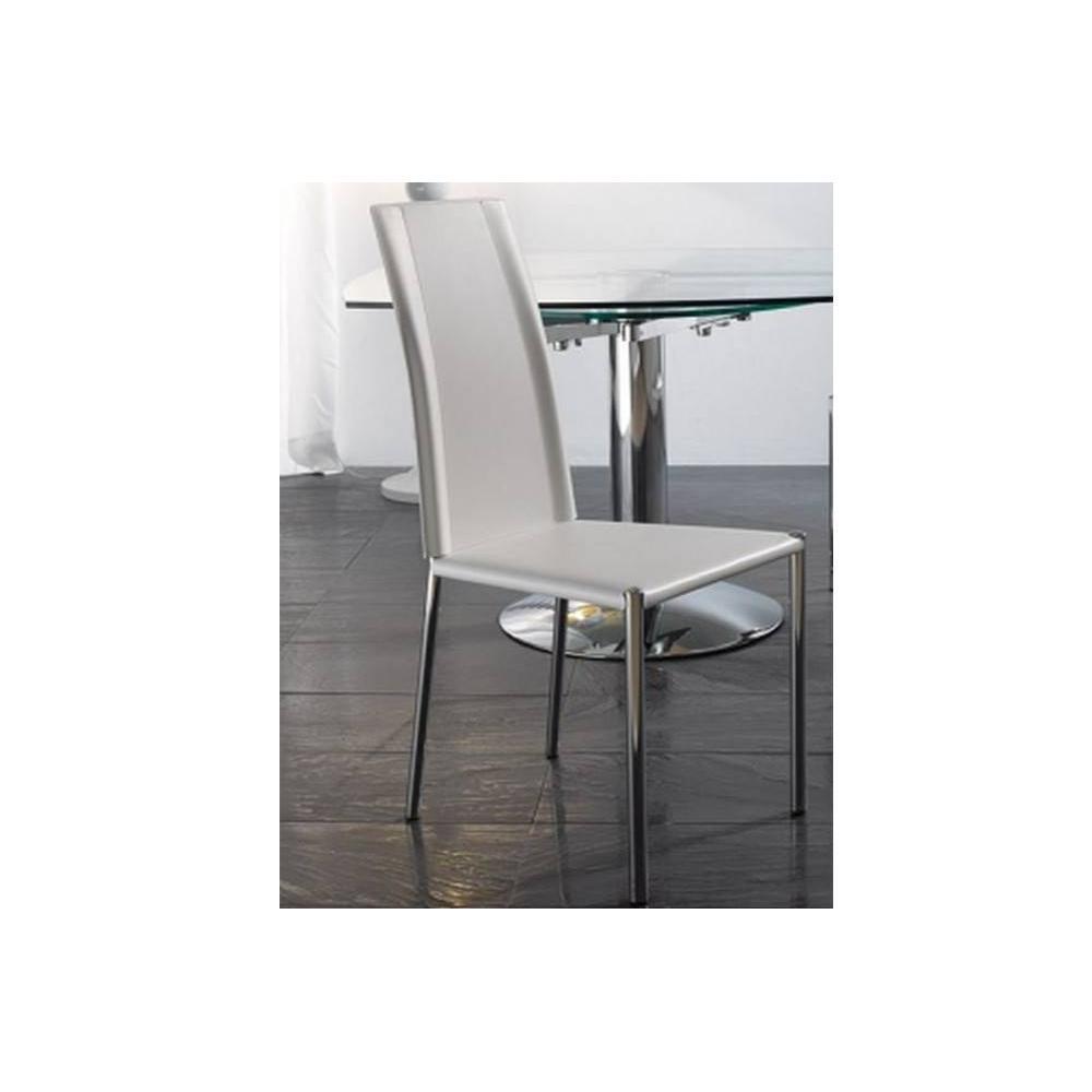 Chaises tables et chaises chaise laser en tissu enduit polyur thane simili - Chaise en cuir beige ...