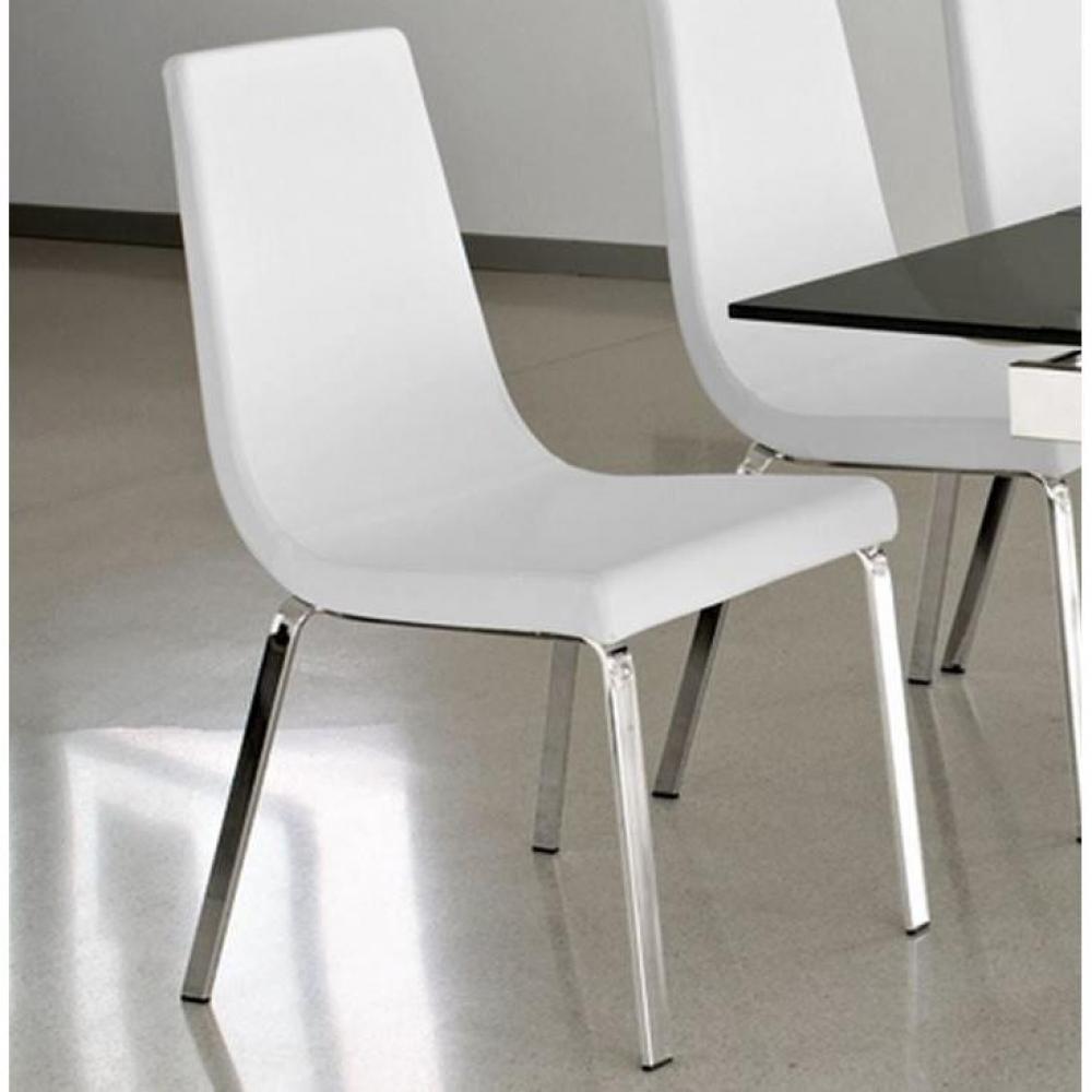 chaises tables et chaises calligaris chaise haut de gamme cruiser assise cuir blanc optique. Black Bedroom Furniture Sets. Home Design Ideas