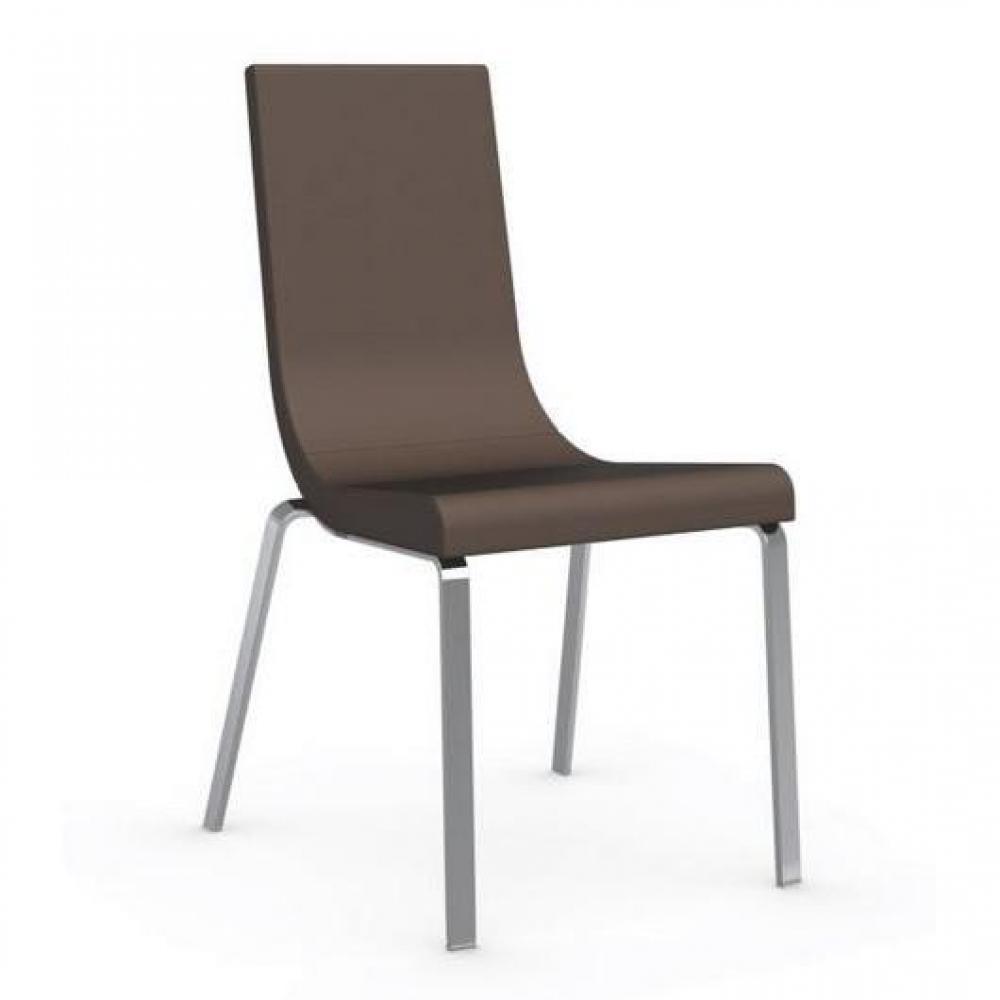 chaises tables et chaises calligaris chaise haut de gamme cruiser assise cuir antilope inside75. Black Bedroom Furniture Sets. Home Design Ideas
