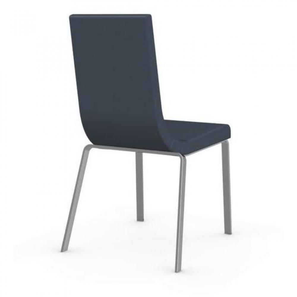 chaises tables et chaises calligaris chaise haut de gamme cruiser assise cuir arctique inside75. Black Bedroom Furniture Sets. Home Design Ideas