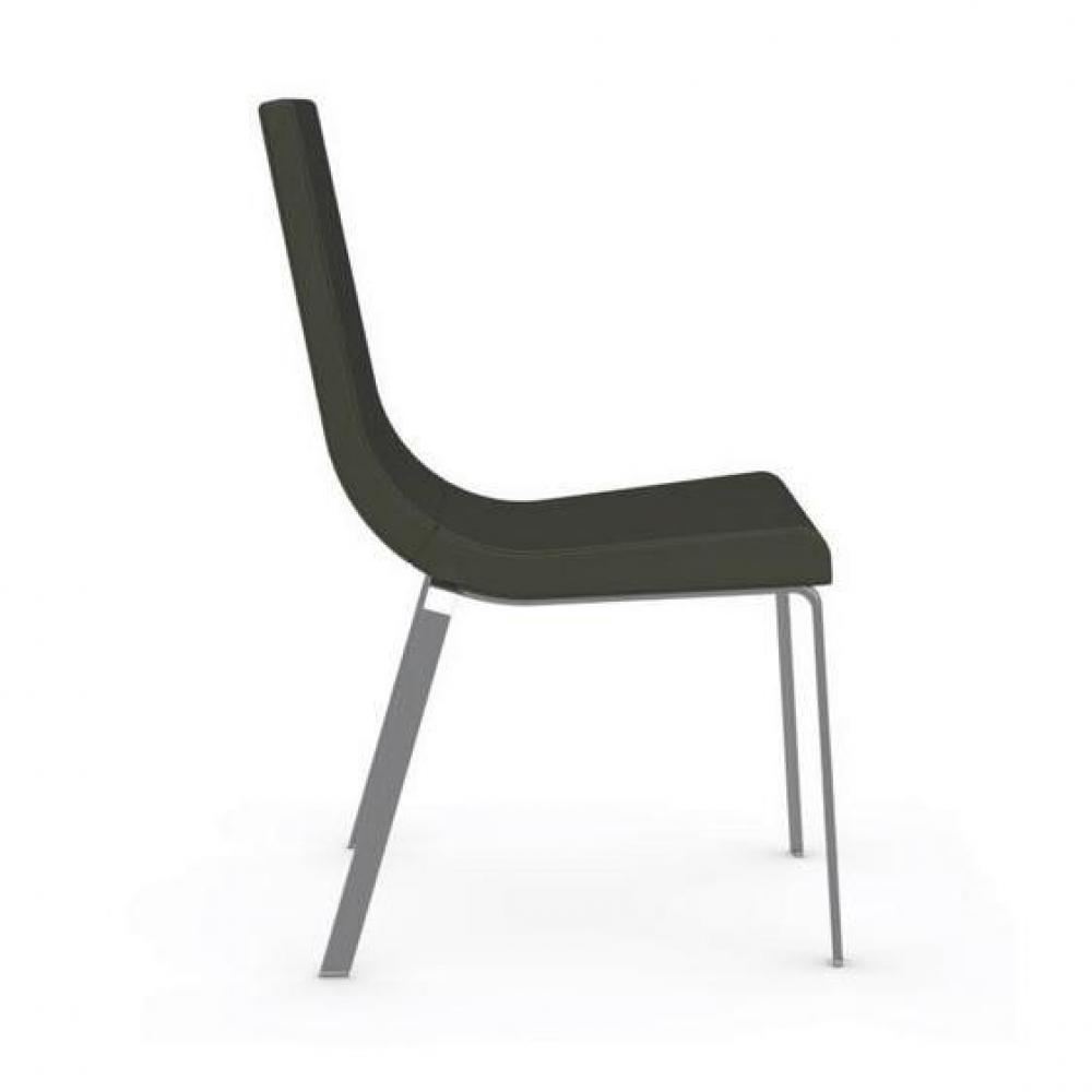 chaises tables et chaises calligaris chaise haut de gamme cruiser assise cuir vert inside75. Black Bedroom Furniture Sets. Home Design Ideas
