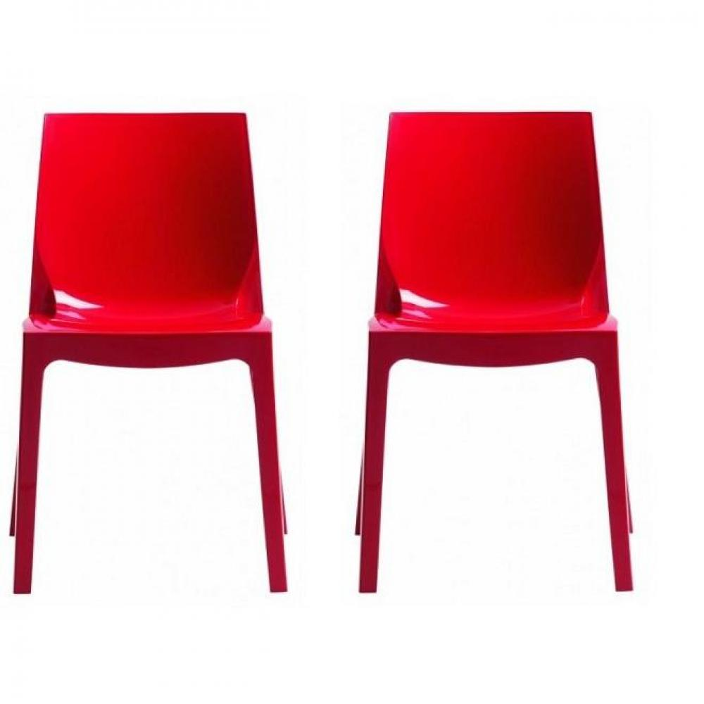 Chaises tables et chaises lot de 2 chaises haut de gamme falena empilables - Chaise design empilable ...
