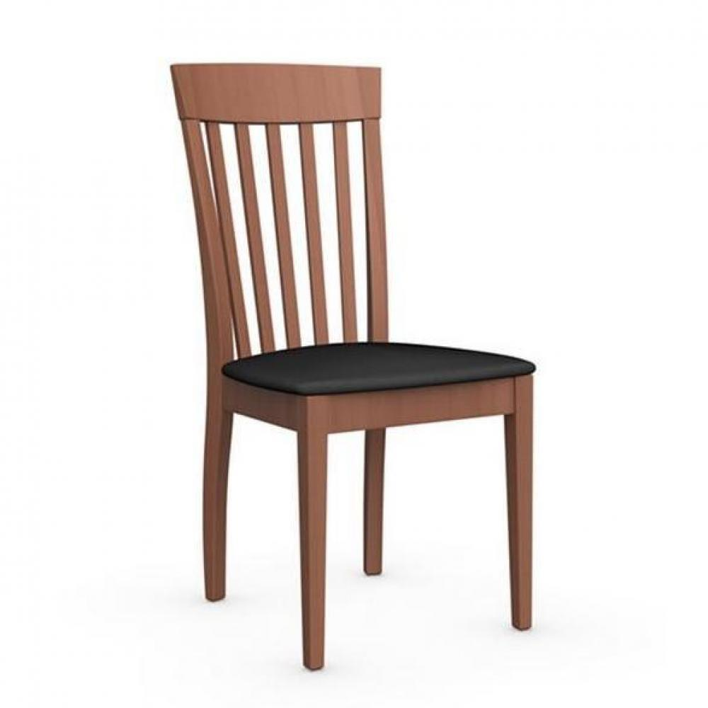 chaises tables et chaises chaise italienne corte de calligaris structure merisier assise tissu. Black Bedroom Furniture Sets. Home Design Ideas
