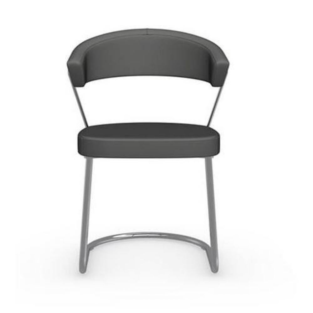 chaises tables et chaises calligaris chaise new york design italienne structure acier chrom. Black Bedroom Furniture Sets. Home Design Ideas