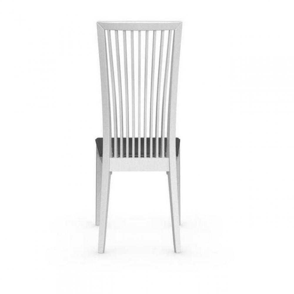 chaises tables et chaises calligaris chaise philadelphia blanche brillante assise cuir noir. Black Bedroom Furniture Sets. Home Design Ideas
