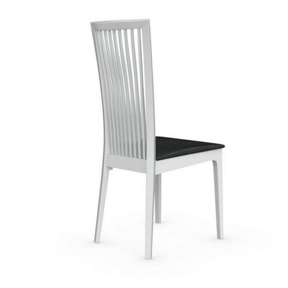 chaises tables et chaises calligaris chaise philadelphia blanche brillante assise tissu noir. Black Bedroom Furniture Sets. Home Design Ideas