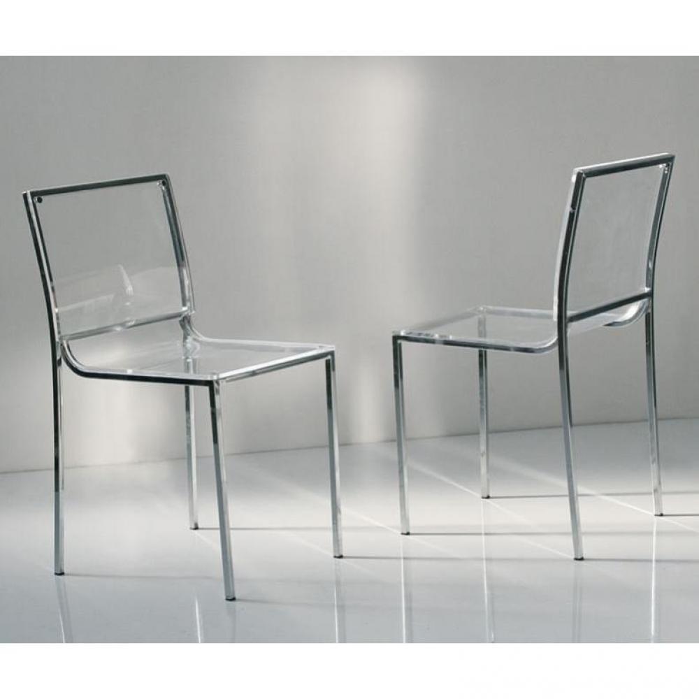 Chaises tables et chaises lot de 2 chaises italiennes for Chaise en plexiglass