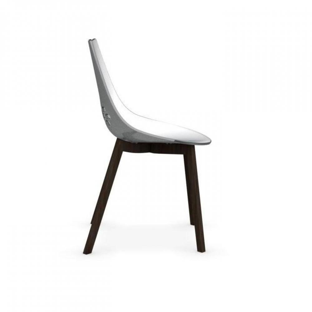 chaises tables et chaises calligaris chaise jam w transparente pi tement fr ne teint smoke. Black Bedroom Furniture Sets. Home Design Ideas
