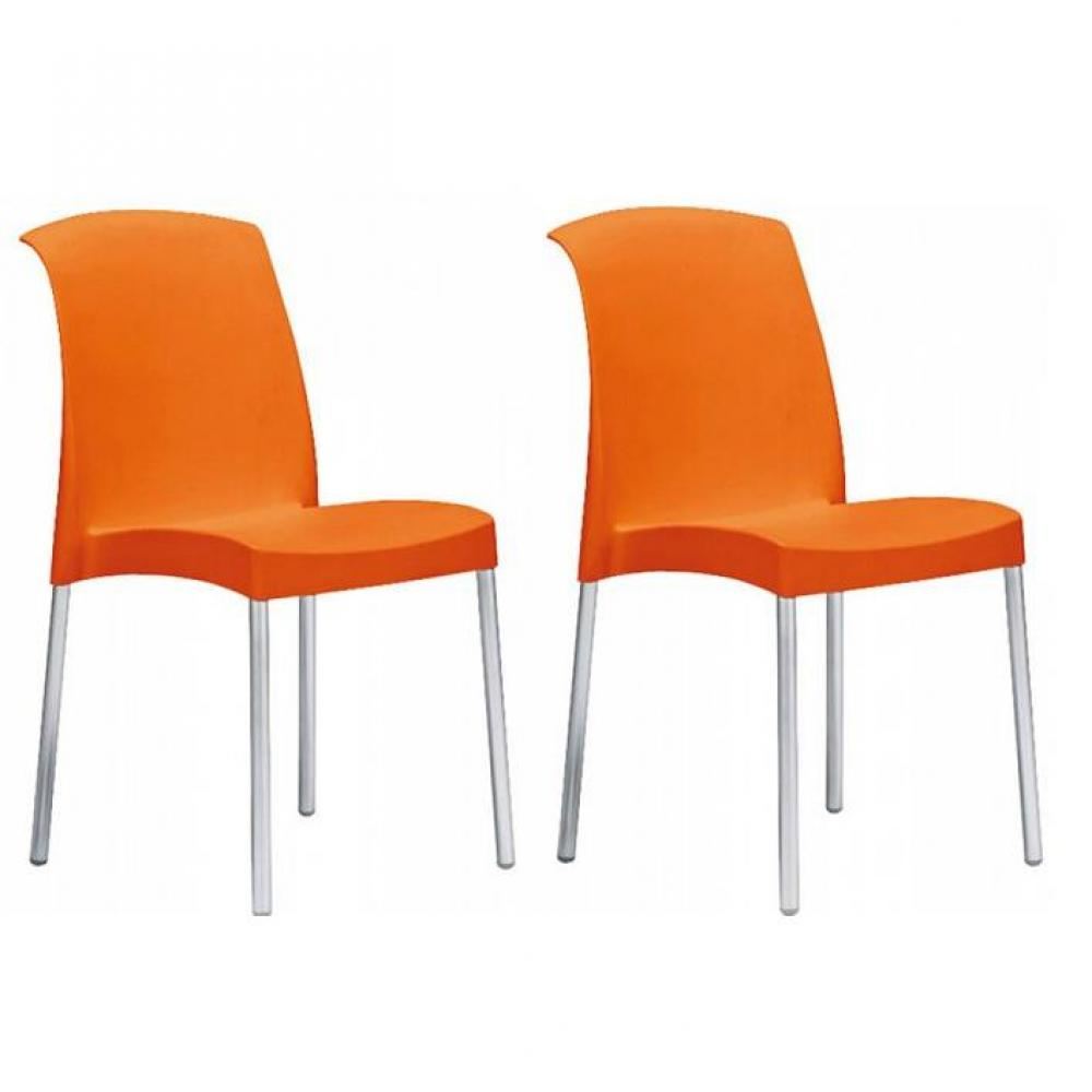 chaises tables et chaises lot de 2 chaises jane design orange inside75. Black Bedroom Furniture Sets. Home Design Ideas