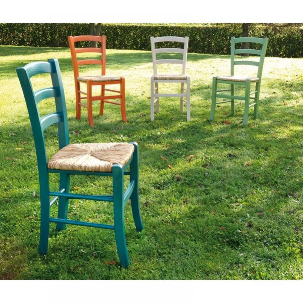 Chaises tables et chaises chaise nature bleu en bois for Chaise hamac nature et decouverte
