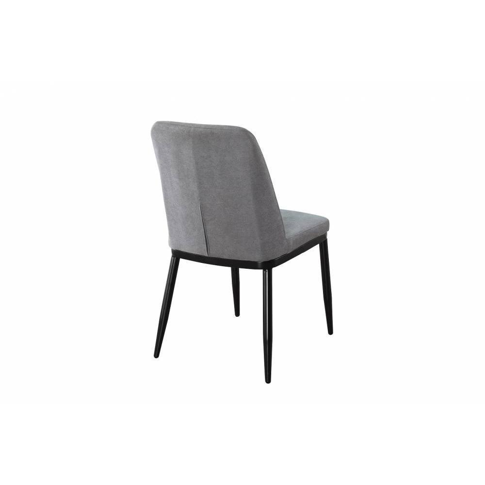 chaises tables et chaises chaise links design tissu gris. Black Bedroom Furniture Sets. Home Design Ideas