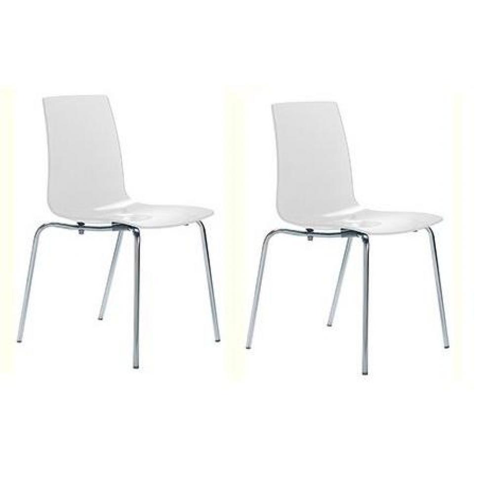 Chaises tables et chaises lot de 2 chaises lollipop for Chaise empilable design